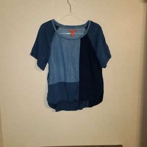 Chelsea&Violet Chambray denim short sleeve top